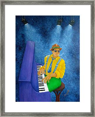 Piano Man Framed Print by Pamela Allegretto