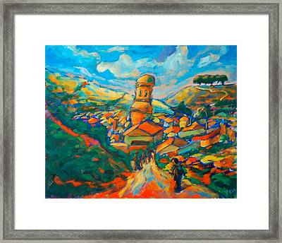 Picturesque Arrival Framed Print by Yen