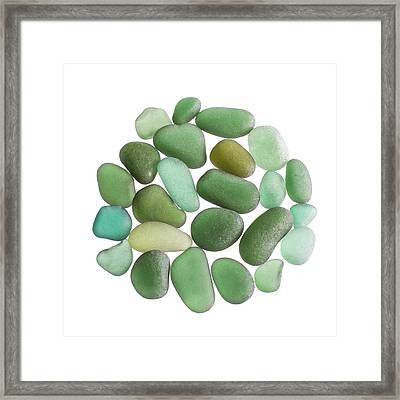 Pieces Of Sea Glass Framed Print by Science Photo Library