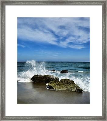 Piedras En El Mar Framed Print by Galeria Zullian  Trompiz