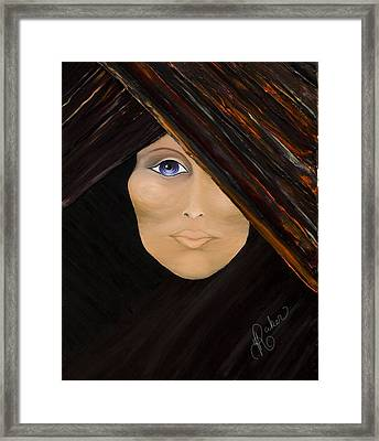 Framed Print featuring the painting Piercing The Veil  by Yolanda Raker