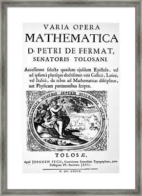 Pierre De Fermat (1601-1665) Framed Print by Granger