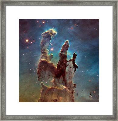 Pillars Of Creation Framed Print by Nasa