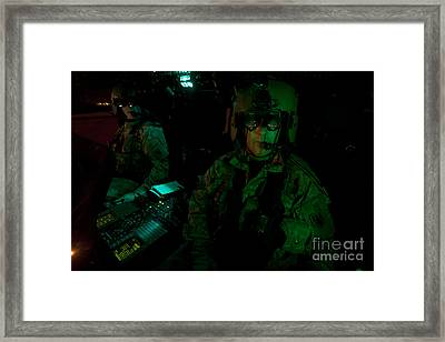 Pilots Equipped With Night Vision Framed Print by Terry Moore