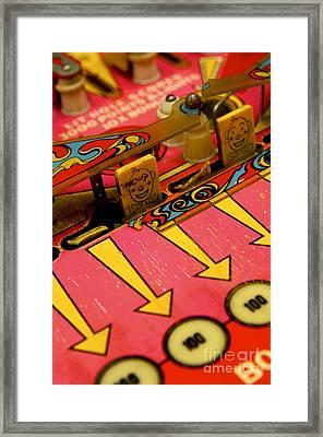 Pinball Machine Framed Print by Bernard Jaubert