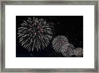 Framed Print featuring the photograph Pink Fireworks by Lilliana Mendez