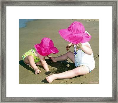 Pink Hats Framed Print