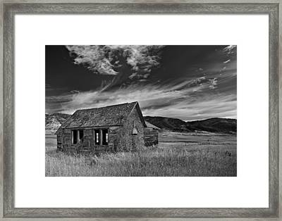Pioneer Cabin   Framed Print by Leland D Howard
