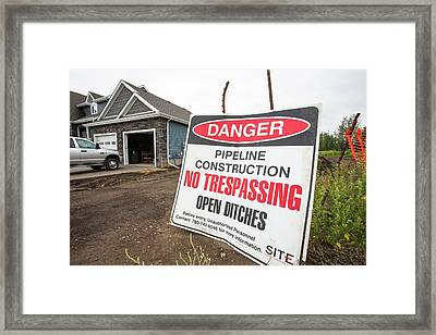 Pipeline Construction Framed Print by Ashley Cooper