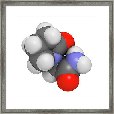 Piracetam Nootropic Drug Molecule Framed Print