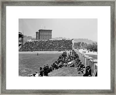 Pittsburgh's Forbes Field 1910s Framed Print by Mountain Dreams