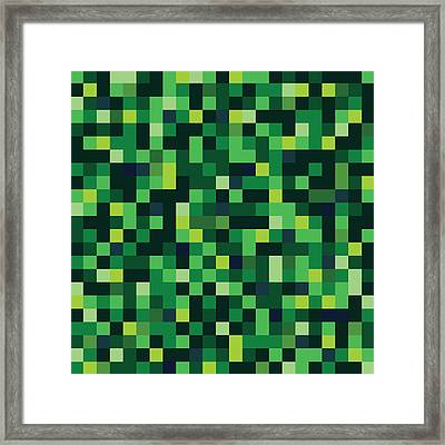 Pixel Art Square Framed Print by Mike Taylor