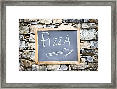 Pizza Sign Framed Print