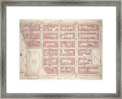 Plate 3, Part Of Section 3 Bounded By E Framed Print by Litz Collection