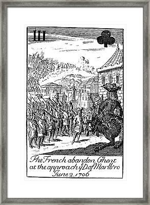 Playing Card, 1707 Framed Print