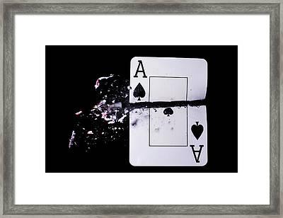Playing Card Trick Shot Framed Print by Herra Kuulapaa � Precires