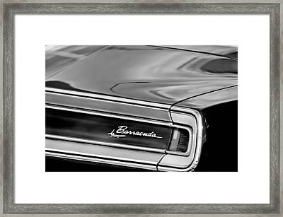 Plymouth Barracuda Taillight Emblem Framed Print