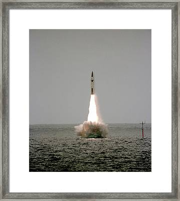 Polaris Nuclear Missile Launch Framed Print by Us National Archives