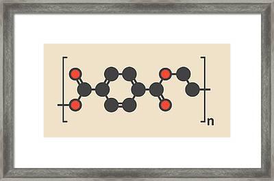 Polyethylene Polymer Molecule Framed Print