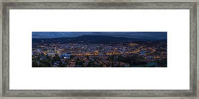 Framed Print featuring the photograph Pontevedra Panorama From A Caeira by Pablo Avanzini