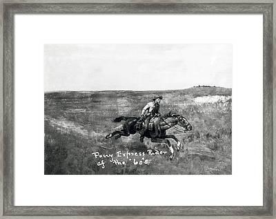 Pony Express Rider Framed Print by Underwood Archives