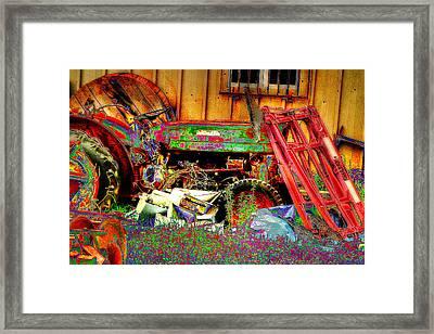 Pop Art Tractor Framed Print by Doc Braham
