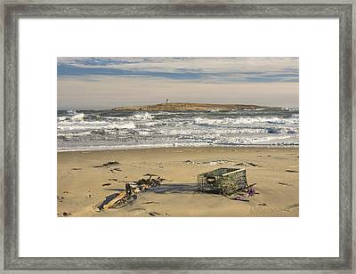 Popham Beach On The Maine Coast Framed Print
