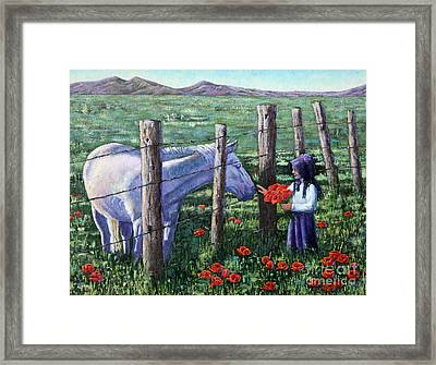 Poppies For Ma Framed Print by Carolyn Kollegger