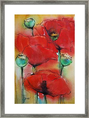 Poppies I Framed Print
