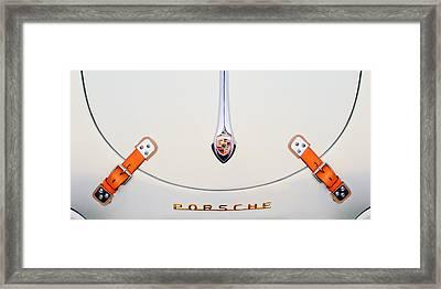 Porsche 1600 Hood Emblem Framed Print by Jill Reger