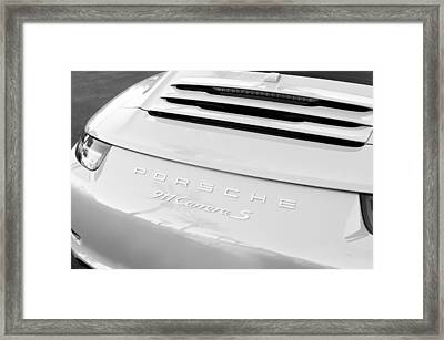 Porsche 911 Carrera S Rear Emblem Framed Print by Jill Reger