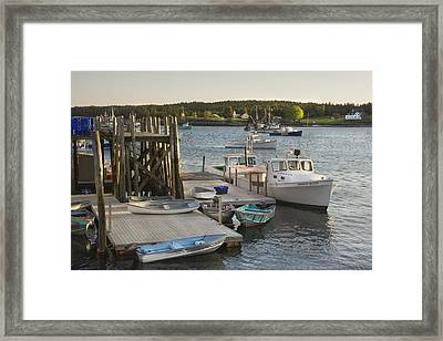 Port Clyde Maine Boats And Harbor Framed Print