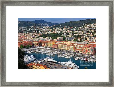 Port Du Nice Framed Print by Inge Johnsson
