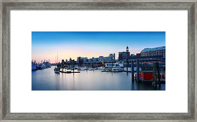 Port Of Hamburg Framed Print