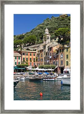 Portofino Harbour Framed Print by Sebastian Wasek