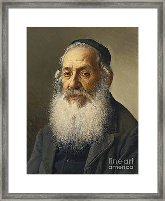 Portrait Of A Rabbi Framed Print by Celestial Images