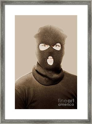 Portrait Of A Vintage Terrorist Framed Print by Jorgo Photography - Wall Art Gallery