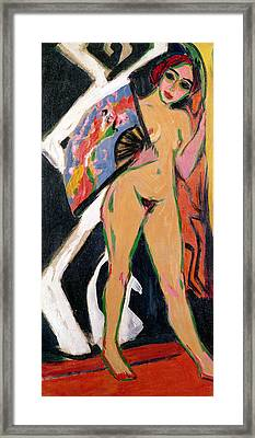 Portrait Of A Woman Framed Print by Ernst Ludwig Kirchner