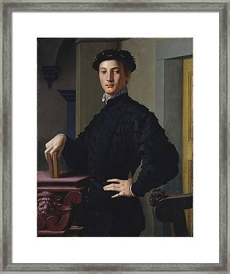 Portrait Of A Young Man Framed Print by Bronzino