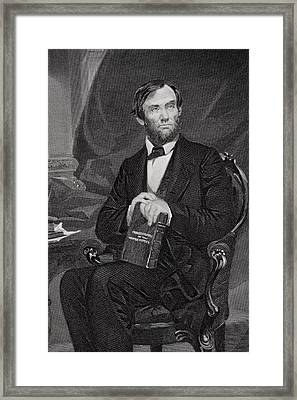 Portrait Of Abraham Lincoln Framed Print by Alonzo Chappel