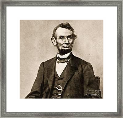Portrait Of Abraham Lincoln Framed Print