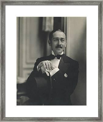 Portrait Of Adolphe Menjou Framed Print