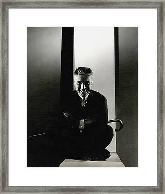 Portrait Of Charlie Chaplin Framed Print by Edward Steichen