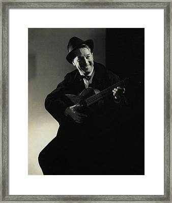 Portrait Of Maurice Chevalier Framed Print
