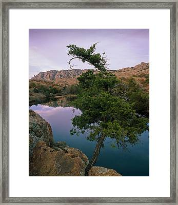 Post Oak Lake And Elk Mountain Framed Print