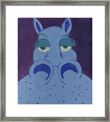 Framed Print featuring the painting Potamus by Yshua The Painter