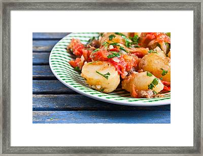 Potatos And Chipolatas Framed Print by Tom Gowanlock