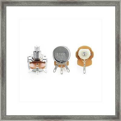 Potentiometers Framed Print