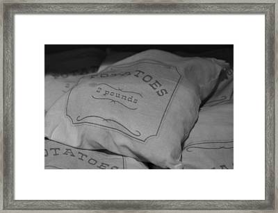 2 Pounds Of Potatoes Framed Print