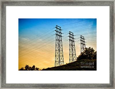 Power Lines Framed Print by Amy Cicconi